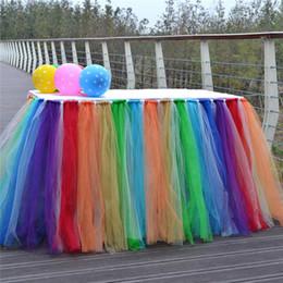 $enCountryForm.capitalKeyWord Australia - Multicolor Tulle Tutu Table Skirt for Wedding Party Birthday Decor Yarn Table Cover Home Textiles Decorations W8123
