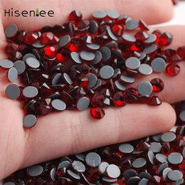 $enCountryForm.capitalKeyWord NZ - High quality new hot sale deep red flat back shiny fashion glass crystal rhinestone jewelry accessories decorative design