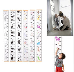 Wholesale Cartoon Growth Chart Wooden Wall Hanging Baby Child Kids Growth Chart Height Measure Ruler Wall Sticker for Kids Children Room Home Decor
