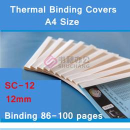 bind machine 2019 - 10PCS LOT SC-12 thermal binding covers A4 Glue binding cover 12mm (85-100 pages) thermal machine cover cheap bind machin