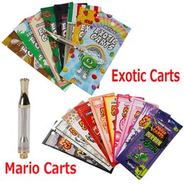 China Exotic Carts Mario Carts Ceramic Coil Cartridge Vape AC1003 Tank 1.0ml Gold Plated Pyrex Glass Atomizer Thick Oil 42 Flavor Option suppliers