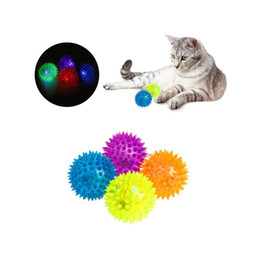 Wholesale Hedgehog Toys Australia - Soft Rubber Flash Ball LED Toys Hedgehog Bouncing Ball Flash Barbed Ball Led Flash Pet Toys Christmas Birthday Festival Gift
