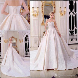 High Quality China Ball Australia - China Supplier High Quality Wedding Dresses Sweetheart Neck Lace Appliques Women Bridal Gowns With Lace Up