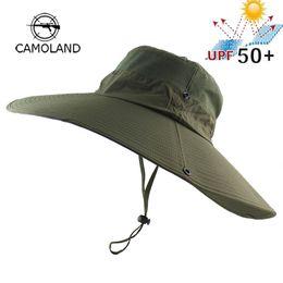$enCountryForm.capitalKeyWord Australia - 14cm Super Long Wide Brim Bucket Hat Breathable Quick Dry Men Women Boonie Hat Summer Uv Protection Cap Hiking Fishing Sun Hat Y19070503