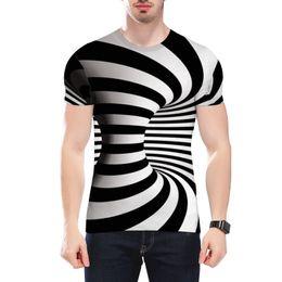 $enCountryForm.capitalKeyWord Australia - Amazon Explosive 3D Digital Printed T-shirt Vortex Short Sleeve Top for Men,Men's Sports Short Sleeves