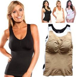 bd3560fa72b Tank Top plus online shopping - 3 Colors Women Tank Top Cami Body Shaper  Removable Pads