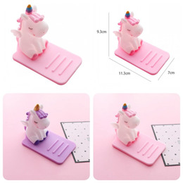 Brackets material online shopping - PVC Unicorn Phone Brackets Table Non Slip Silicone Phone Holder Decorate High Quality Material Portable Convenient Tools nsH1
