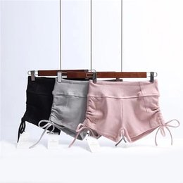 $enCountryForm.capitalKeyWord Australia - Elasticity Cool Shorts Women Soild Color Sexy Pole Dance 2018 Summer Short Fitness Female Shorts Gray Pink Black WS055 S190423