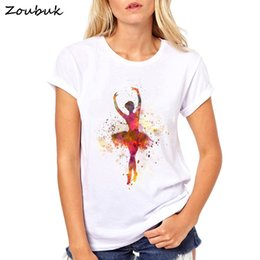 $enCountryForm.capitalKeyWord Australia - 2018 New Summer Women Short Sleeve Aqua Ballerina T-shirt Elegant Ballet Dance Posture Design Female Tops Cute Girl Tee Shirts Y19042202
