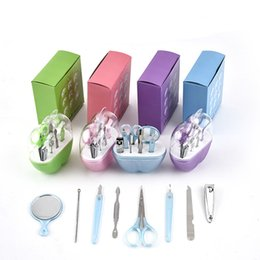 Wholesale 8Pcs Set Baby Kids Toddler Grooming Health care Kits Nail Care Set Nail Clipper scissors Multi Tool Health set C6725