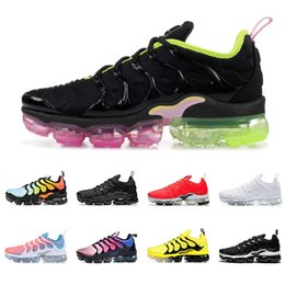 Wholesale TN plus running shoes men women triple black Lava Glow GAME ROYAL cool grey PINK RISE BUMBLEBEE mens trainers breathable sports sneakers