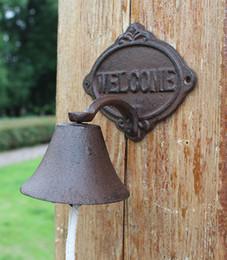 $enCountryForm.capitalKeyWord Australia - Cast Iron WELCOME Dinner Bell Wall Mount Metal Decorative Door Bell Doorbell Home Garden Porch Patio Farm Yard Ctafts Decoration Vintage