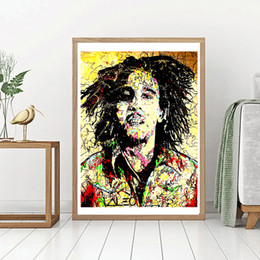 $enCountryForm.capitalKeyWord NZ - Bob Marley Graffiti Artists Alec Monopolyingly Image Paintings Canvas Modern Art Decorative Wall Pictures For Living Room Home Decoration