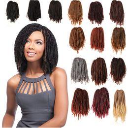 $enCountryForm.capitalKeyWord Australia - Fluffy Spring Curl Twist Hair Extensions Black Brown Burgundy Beyond Beauty Ombre Crochet Braids Kanekalon Synthetic Braiding Hair