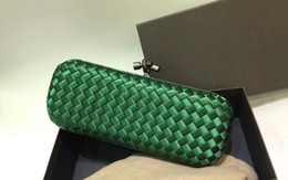 Genuine snake skin baG online shopping - New Classic hot sell fashion woman clutch designer made of ribbon and snake skin weaving lady longer clutch party bag