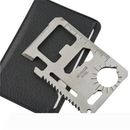 multifunction survival card Australia - Multi Pocket Tools 11 in 1 Hunting Survival Camping Credit Card Knife Multifunction Multi Camping Tool