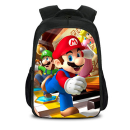 $enCountryForm.capitalKeyWord Australia - 16inch Mario Baby Backpacks Cartoon Anime Printing Pattern Boys Girls Teenager School Bags Mochila Box Preschool Bagpack for birthday gifts