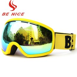 Ski Goggle Lens Color NZ - BENICE New Design Ski Goggle Snow Glasses  UV- Protection Multi-Color Double Anti-fog Lens Snowboard Skiing Goggle with Free Bag
