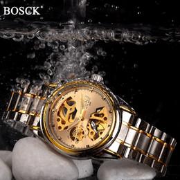 $enCountryForm.capitalKeyWord Australia - Bosck Brand Luxury Mechanical Men Watches Skeleton Automatic Gold Masculino Waterproof Self-winding Clock Stainless Steel Hombre J190705