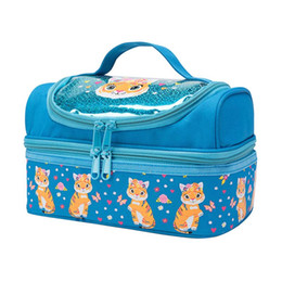 China cute printing kids lunch bag thermal picnic box double compartment cooler bag ice pack meal cans drinks fresh insulated cool cheap cute cooler bags suppliers