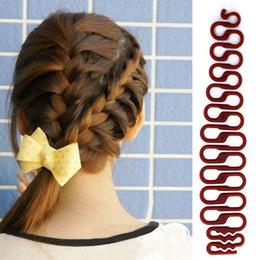 $enCountryForm.capitalKeyWord Australia - 1 pc Women Lady French Hair Braiding Tool Braider Roller Hook With Magic Hair Twist Styling Bun Maker Hair Band Accessories