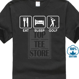 $enCountryForm.capitalKeyWord Australia - Eat Sleep Golfed Funny Black Short Sleeve Men T Shirt Size S 3xl Design T Shirt Men's High Quality