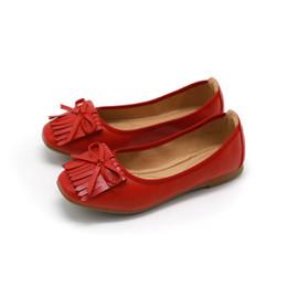 $enCountryForm.capitalKeyWord UK - Sweet bow flat shoes fashion new hot sale square head patent leather women's single shoes Korean tassel soft bottom lazy shoes