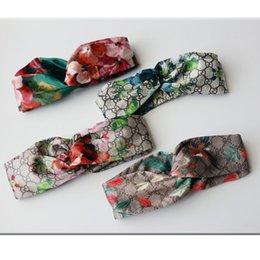 Venta al por mayor de 2019 Nuevo Diseñador de Lujo 100% Seda Cruzada Diadema Mujer Chica Cintas Elásticas para el Cabello Retro Turbante Headwraps Regalos Flores Orquídea Colibrí