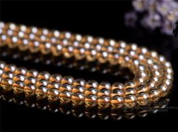 Champagne Color Crystals NZ - Wholesale 45 Pcs lot Natural Champagne Color Crystal Beads for Necklace Bracelet Jewelry Making Loose Gemstones 8 Mm DIY
