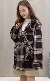 $enCountryForm.capitalKeyWord Australia - Joker Korean version of imitation mink velvet knitted cardigan 2019 fall winter women coat new loose plaid coat women tide