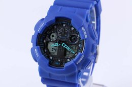 Army duAl wAtch online shopping - 2019 New dual display sports watch ga100 G Black Display LED Fashion army military shocking watches men Casual Watches chat ft9508