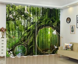 $enCountryForm.capitalKeyWord UK - Curtain In The Beautiful Forest, The Magical Roots 3d Scenery Curtains, Beautiful And Comfortable Blackout Curtains