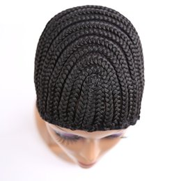 China Cornrow Wig Caps For Making Wigs With Adjustable Strap Braided Cap For Weave Wig Rosa Hair Products Women Hairnets Easycap 5pcs Lot suppliers