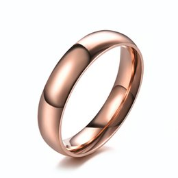 Rose Style Rings Australia - Simple design rose gold fashion rings national style jewelry cute rings gift for man and woman