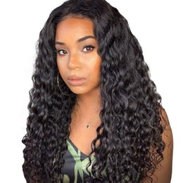 sizes hair closures 2019 - Deep Wave Human Hair Lace Front Wigs Lace Closure Brazilian Human Wigs Closure Pre Plucked With Baby Hair For Women disc