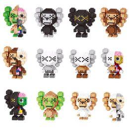 Kaws figura Blocos Pequenas Partículas Brinquedos de Construção Tijolos Figuras de Ação Blocos Falso Brinquedo para Crianças 6 cores brinquedos infantis venda por atacado