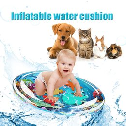 sensory baby toys 2019 - Inflatable Baby Water Mat Infant Tummy Time Play Mat Toddler Fun Activity Play Center For Sensory Stimulation Motor Skil
