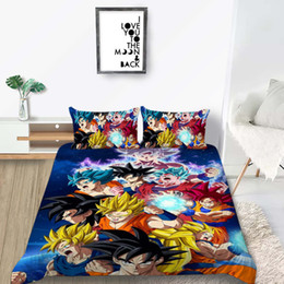 Boys twin Bedding set online shopping - Dragon Ball Bedding Set Universe Fashionable Classic Duvet Cover For Boys King Queen Full Twin Single Double Bed Cover with Pillowcase