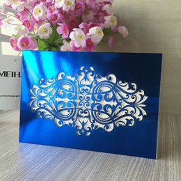 Folding Card Table Australia - Hollow Laser Cut European Exquisite Envelope Wedding Invitation Card Design With Sculpture Table Cards Birthday Invitations