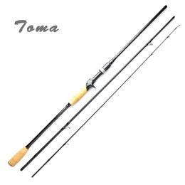 Fishing rods 2.1m online shopping - TOMA Carbon Fishing Rod Casting Spinning m m Section M Power g Fast Action Lure Rod Travel Fishing Tackle