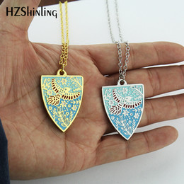 $enCountryForm.capitalKeyWord Australia - NEW Silver Gold Enamel Pendant Necklace Spring Scene Jewelry Gifts For Friends Fashion Pendants Link Chain Personalised Birthstone Pendant