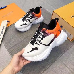 $enCountryForm.capitalKeyWord NZ - 2019 Run Away Pulse Sneaker Mens Designer Shoes Womens Luxury Trainers Monogram Canvas Sneakers Colorful Lace Up Outdoor Hiking Shoes 38-45