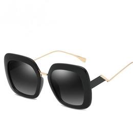 Big Black Box Glasses Australia - New fashion sunglasses Europe and the United States cross-border personality sunglasses women trend big box sunglasses best selling