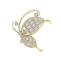 $enCountryForm.capitalKeyWord Australia - High Quality Copper Zircon Brooch Pin Trend Personality Nature Animal Butterfly Brooch Dress Best Wedding Birthday Gift