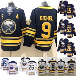 Hockey Jerseys Buffalo Sabres 9 Jack Eichel Jersey Hockey 26 Rasmus Dahlin  53 Jeff Skinner 15 Jack Eichel Sam Reinhart 2019 2a9639c96