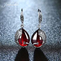 $enCountryForm.capitalKeyWord UK - Jiashuntai Silver Earrings For Women Peacock Shape Earrings Female Antiallergic 925 Sterling Silver Jewelry Natural Stone J190718