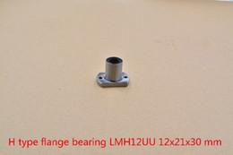 12mm Bearing Australia - 12mmx21mmx30mm LMH12UU LMT12UU oval flange linear ball bearing for 12mm rod round shaft cnc bearing 1pcs