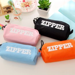 Dog Zipper Australia - Big Zipper school Pencil Case Cartoon Unicorn fruit Dog Large Capacity Pen Bag Stationery pouch gift School Supplies Zakka