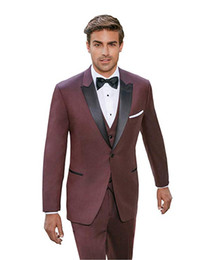 $enCountryForm.capitalKeyWord Australia - Men's 3 Piece Suits Slim Fit Casual One Button Suits Solid Jacket Waistcoat Trousers for Wedding Prom Party Bussiness