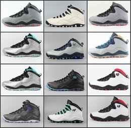 f0025c7392d77c New 10 mens basketball shoes Steel Grey CDP 10S trainers Powder Blue Lady  Liberty Chicago paris city pack Sneakers Shoes